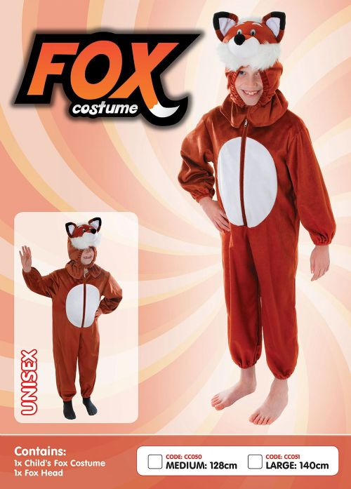Childs Fox Costume Fantastic Sly Farm Animal Basil Fancy Dress Outfit